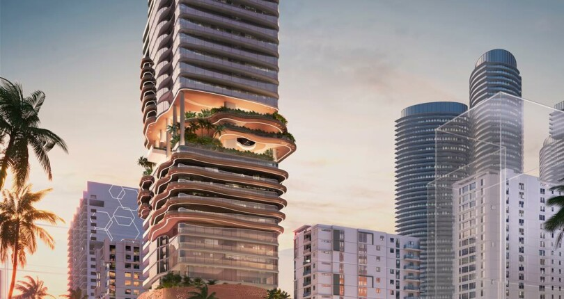 Renderings Brickell Lux Tower with Hotel & Residential