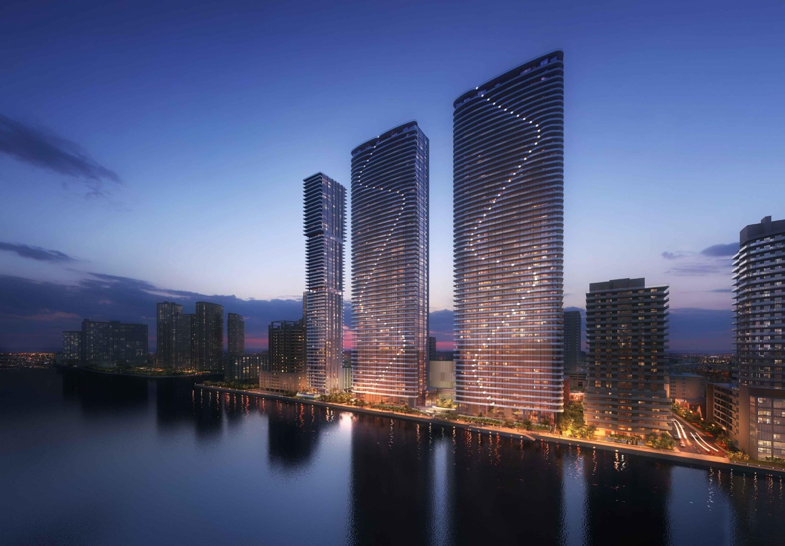 Island Bay Proposed By Melo Group In Edgewater With 782 Units In Twin 60-Story Towers