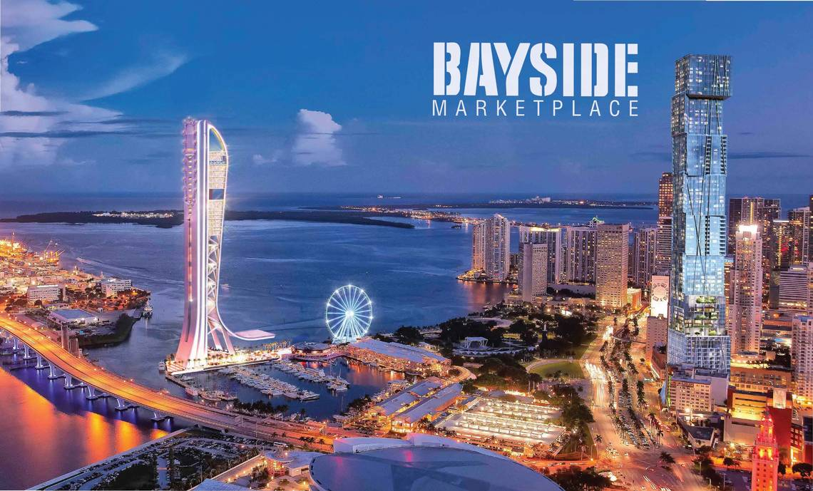 Bayside Ferris Wheel Under Construction in Downtown Miami