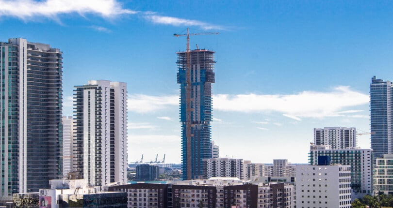 Elysee Condo Tower, Edgewater's Tallest Building Tops off at 57 Stories